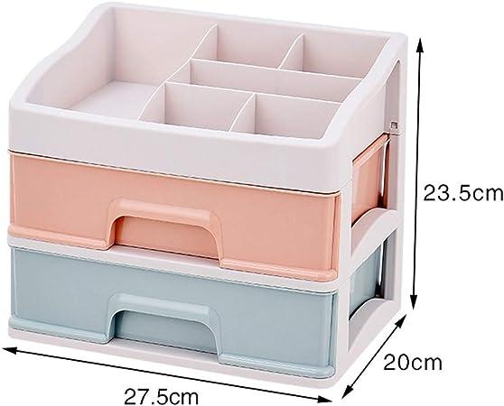 Caja de Almacenamiento de cosméticos Tipo de cajón de Mesa de plástico Lápiz Labial Joyería Productos