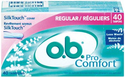 o.b. Tampons, Pro Comfort, Regular, 40 ct by o.b.