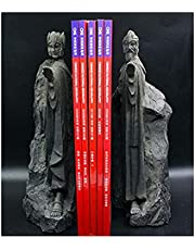 Bookends Book End Lord of Rings Hobbit, Heavy Duty Decorative Unique Design Resin Book Stopper Book Dividers