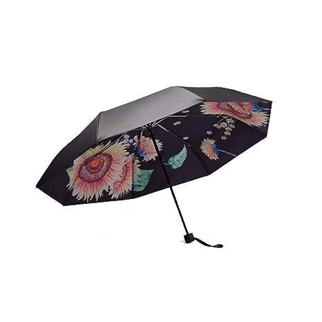 Doble capa espesa de plastico negro de paraguas, sombrillas, proteccion solar y UV paraguas