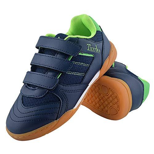 TIESTRA Zapatillas Deportivas Fútbol Infantil Unisex niños, Zapatillas de Deporte Niños Ligeras Transpirable Zapatos de…