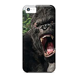 New Premium Flip Case Cover King Kong Angry Skin Case For Iphone 5c