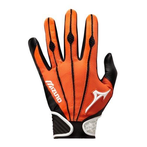 タイピスト初期の道ミズノ大人用ヴィンテージPro Batting Gloves、オレンジ、ミディアム