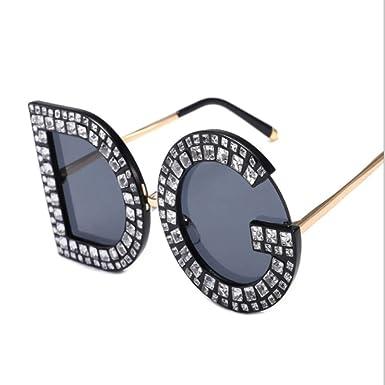 MNGF&GC Gafas de sol con forma de carta de DG de diamante ...