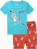 BebeBear Boy Pajamas Shorts Spacemen Little Boys Cotton PJS Shorts Set 2-8T
