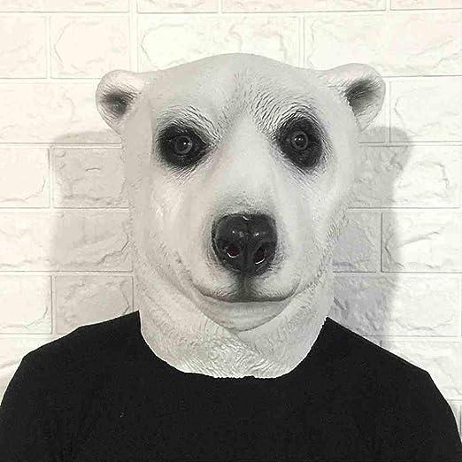 ZFBMY Máscara de Oso Polar de Halloween Conjunto de Cabeza de ...