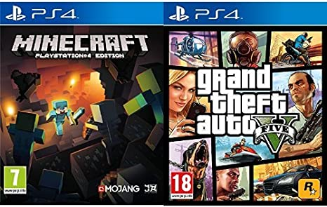 Minecraft + Grand Theft Auto V (GTA V): Amazon.es: Videojuegos