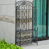 Cheap 5-Tier Bakers Rack in Pewter Finish