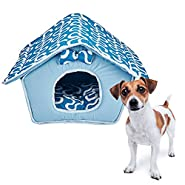 Tent Bed for Pets, Self-Warming Memory Foam House. Indoor Pet Bed House