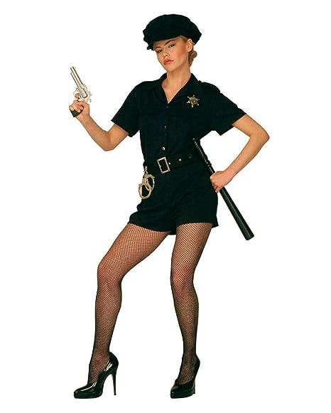 Disfraz caliente Mujer policía Talla L 40/42: Amazon.es ...