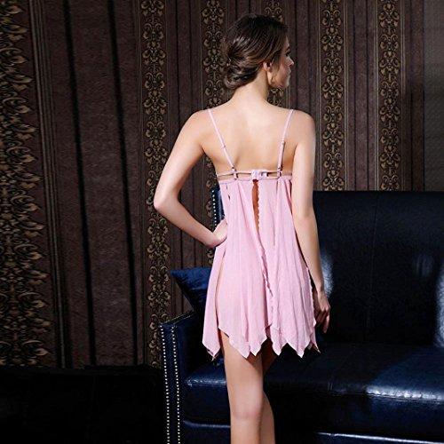Tentazione Biancheria Vovotrade merletto Rosa del abito camicia notte femminile intima trasparente da dHcrgncW