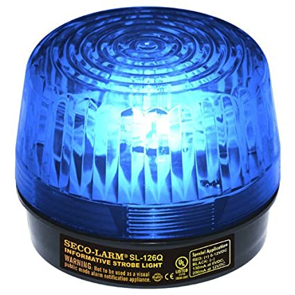 SECO-LARM SL-126Q/B Blue Security Strobe Light (1) by Seco ...