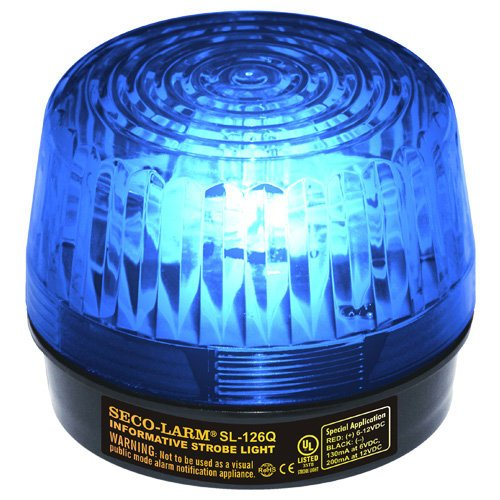 [SECO-LARM SL-126Q/B Blue Strobe Light; For 6- to 12-Volt use; For