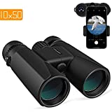 Cheap APEMAN 10X50 HD Binoculars for Adults with Low Light Night Vision,Compact Binoculars for Bird Watching,Hunting,Sports Events,Travelling,Adventure and Concerts,FMC Lens with Smart Phone Adapter (10X50)