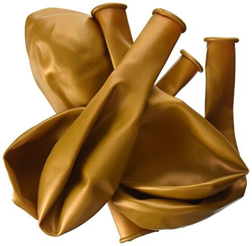 Pioneer Balloon Company 25 Count Latex Balloon, 11, Metallic Gold