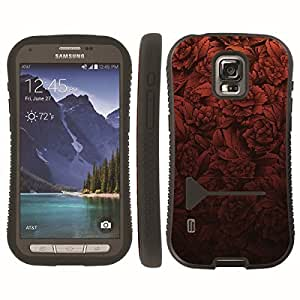 [ArmorXtreme] Hybrid ShockProof Armor KickStand Case (Peony Red) for Samsung Galaxy S5 ACTIVE G870A