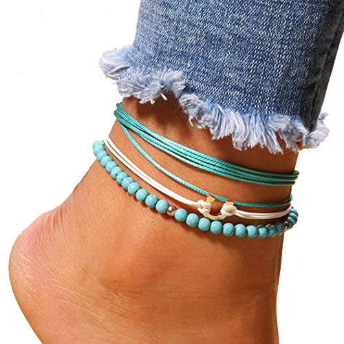Footwear fashion jewelry feet multi-layer beads U-shaped anklet
