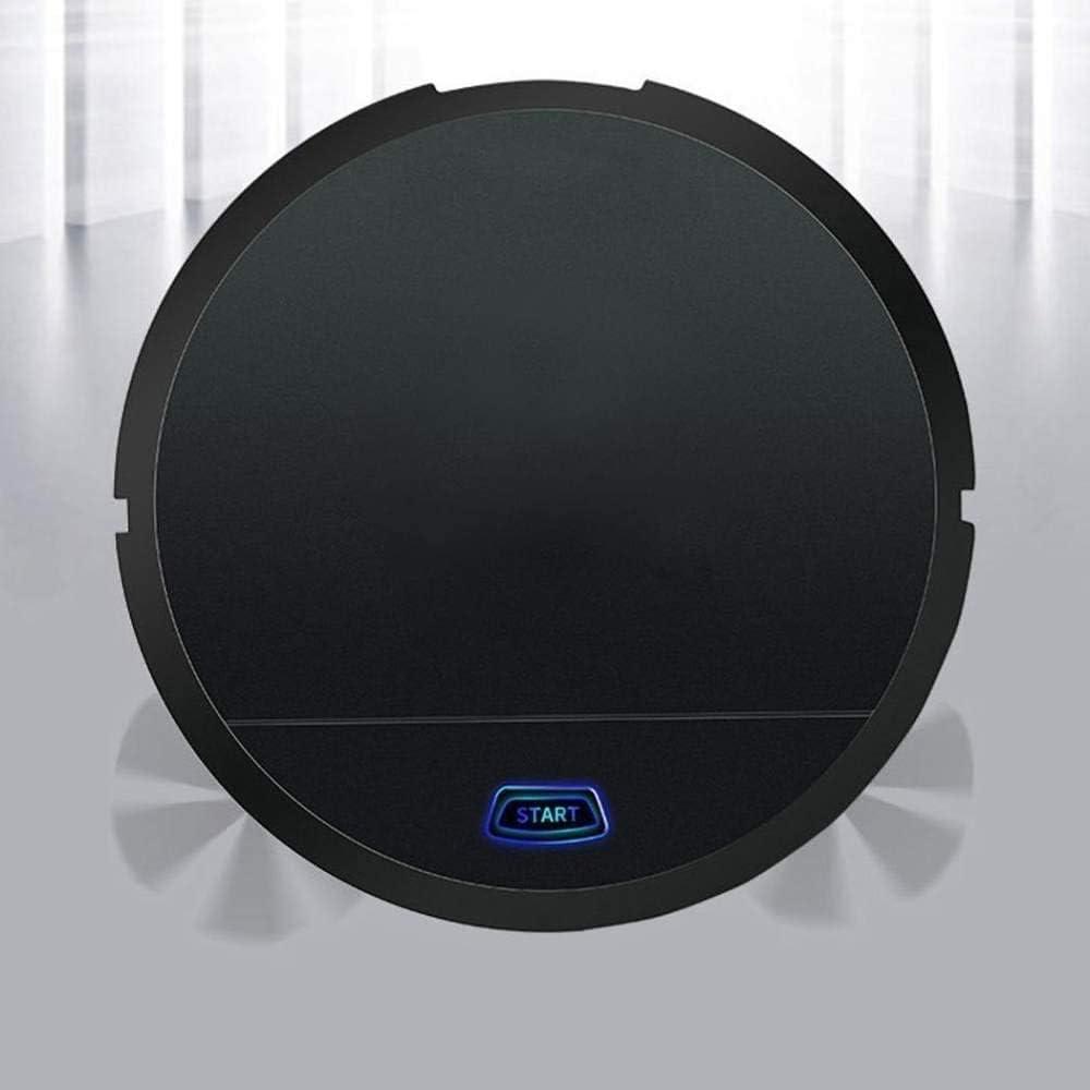 Miwaimao Robot de nettoyage automatique rechargeable Smart Clean Aspirateur robot balayage poussière de sol pour aspirateur électrique domestique Blanc (couleur : blanc) Noir