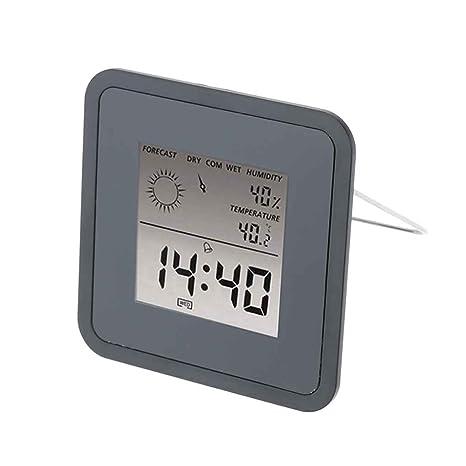 Medidor de humedad de usos múltiples de la estación meteorológica Termómetro higrómetro sensor Pronóstico digital LCD