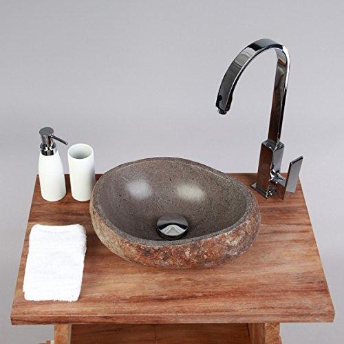 Waschbecken rund stein  WOHNFREUDEN Naturstein Waschbecken 29- 39 cm aussen natur ♥ für ...