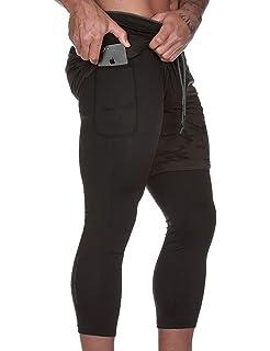 Amazon.com: Pantalones cortos de compresión 2 en 1 para ...