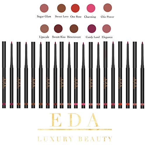 EDA LUXURY BEAUTY ONE ROSE RED RETRACTABLE LIP LINER Creamy Smooth Formula High Pigmented Professional Makeup Long Lasting Waterproof Twist Up Mechanical Automatic Lip Color Pencil