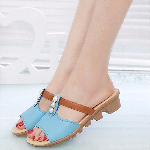 Codice All'Aperto Pantofole Blue Scivolo Lady Europeo Con D'Estate 39 A Fondo Rosa Code BTBTAV European 37 Piatto FqzwRxCEE