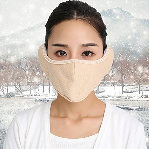 Silence Shopping Winter Cold Proof Mask Earmuff Cloth Half Face