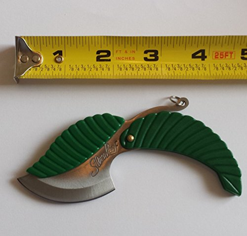 Perfect Seeking Leaf Stainless Steel Folding Pocket Keychain Knife Sharp Compact EDC Every Day Carry