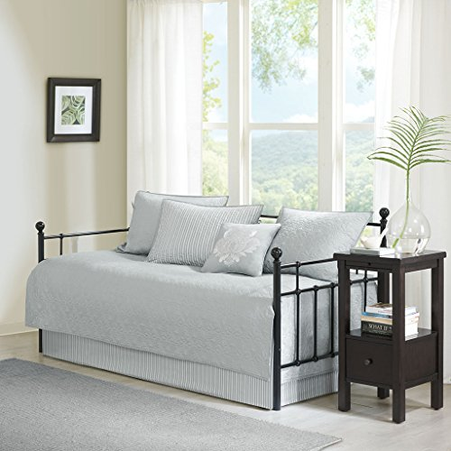 Quebec 6 Piece Daybed Set Grey Daybed (Daybed Pillow Sets)