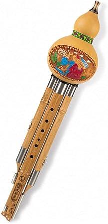 China Instrumento Cucurbitáceas Flauta Calabaza De Botella De Seda De Bambú Tubos Instrumento Tradicional Chino con China Lleva La Caja del Nudo para Principiantes Regalo Musical,Ctone: Amazon.es: Hogar