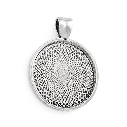 20Pcs 1 Inch Round Pendant Bezel Tray Vintage Antique Silver Pendant Blanks Cameo Settings from Yumei Jewelry