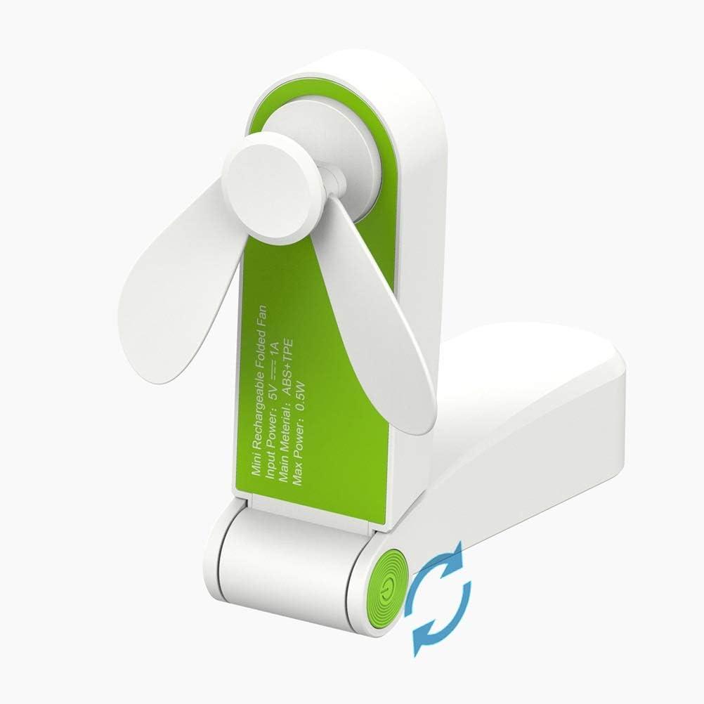 MIAOMIAOGI Ventilador eléctrico, USB mini ventiladores del doblez eléctrico portable de pequeños ventiladores Electrodomésticos originalidad Pequeño electrodomésticos de escritorio del ventilador eléc
