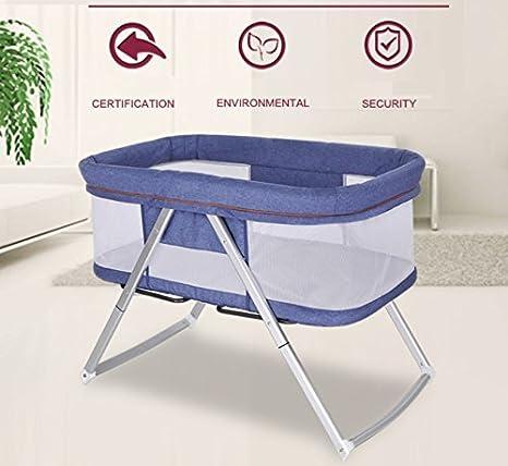textil-home EASYCOSY - Culla da viaggio Mini Baby Pieghevole solo 5 kg di peso. Colore rosa - convertibile in bilanciere.