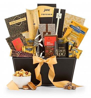 GiftTree The Metropolitan Gourmet Chocolate & Premium Snack Food Gift Basket - Premium Gift Basket for Men or Women