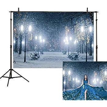 Amazon Com Allenjoy 7x5ft Winter Snowing Backdrop Christmas Night
