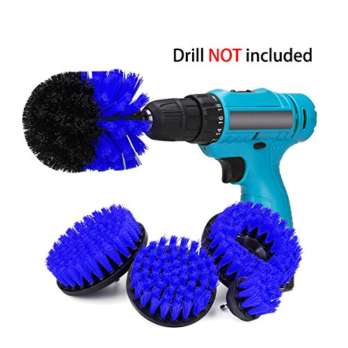 Replace Wire Brushes for Drill - Ultra Stiff Polypropylene Drill Powered Attachment Kit for Loose Paint Stripping, Rust Removal and Heavy Duty Scrubbing. Graffiti Remover for Stone, Cement, Brick Wall