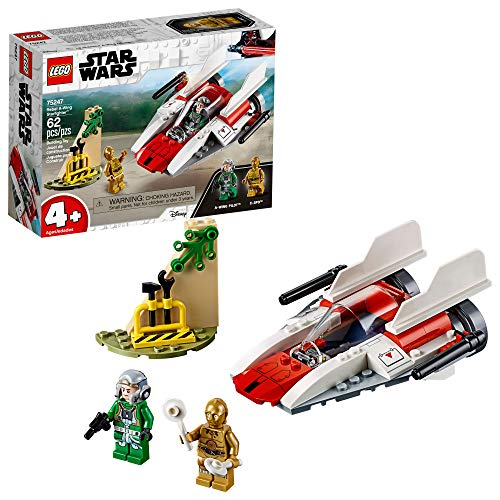 Wing Starfighter - LEGO Star Wars Rebel A-Wing Starfighter 75247 4+ Building Kit , New 2019 (62 Pieces)