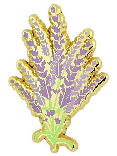 PinMart Lavender Flower Bouquet Enamel Lapel Pin Jewelry Brooch