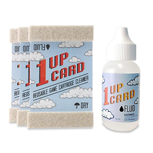 (1UPcard Video Game Cartridge Cleaning Kit - 3 Pack with)