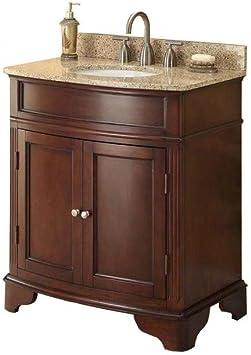 Pegasus 31 In W X 35 In H X 20 In D Vanity In Cherry With Marble Vanity Top In Cream And White Basin Bathroom Vanities Amazon Com