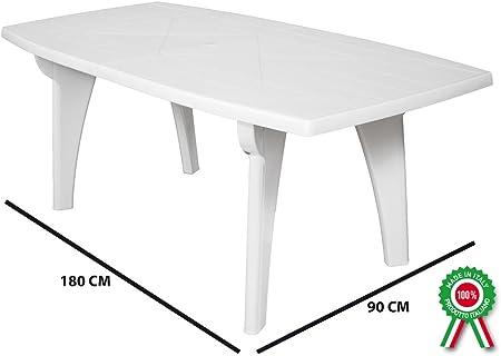 Tavoli Di Plastica Da Giardino.Sf Savino Filippo Tavolo Tavolino Rettangolare 180x90 Lipari In