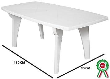 Table d\'appoint rectangulaire 180 x 90 Lipari en résine dure ...
