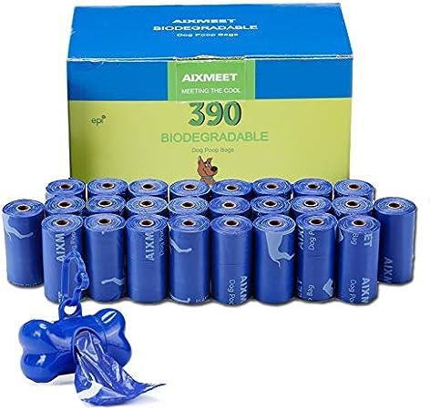 Bolsas para Excrementos de Perro con Dispensador, 26 Rollos/390 ...