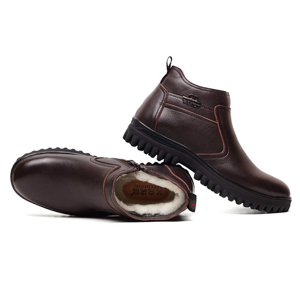 Mens Up Winter Outdoor Casual Lederschuhe Britischen Stil Lace Up Mens Anti-Slip Luxuriöse Lederschuhe, Für Die Arbeit Wandern Und Laufen,braun-A-39 7e5b59