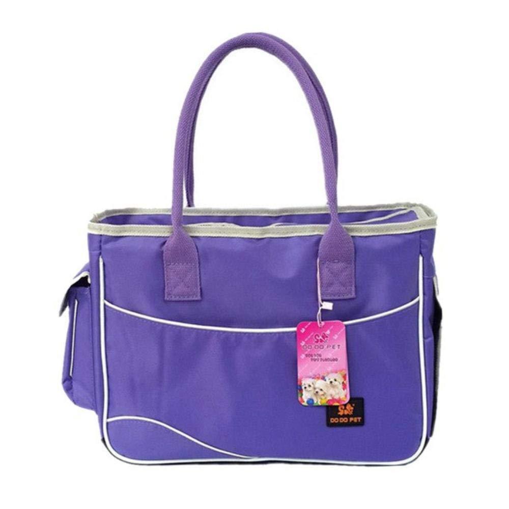 Purple M 40x17x29cm purple M 40x17x29cm Dog Carrier Bags Travel Breathable Durable Nylon Pet Carriers for Cat Small Dogs Pink Puppy Dog Bag Shoulder Casual (M 40x17x29cm,Purple)