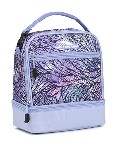 Dual Compartment Lunch Box - High Sierra Stacked Compartment Lunch Bag, Feather Spectre/Powder Blue