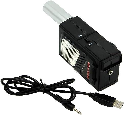 DC 5V tragbarer Grillventilator Luftgebläse USB Kabel für Picknick im