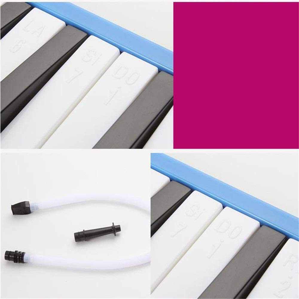 Melodica Musical Instrument Kids Musical Instrument Gift Toy Pianica Melodica 37 Piano Keys For Music Lovers Beginners Portable With Mouthpieces Tube Sets Carrying Bag Pink Blue For Music Lovers Begin by Kindlov-mus (Image #4)