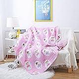 Abreeze Ballet Girls Coverlet Quilt Bedspread Throw Blanket for Kid's Girls Bed Gift for Nursery School/Kindergarten 55'' X 75''